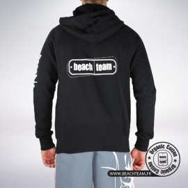 Sweat Zip Noir Beach Team (mixte)
