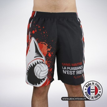 Short Defender By Hubert Henno Black/Red