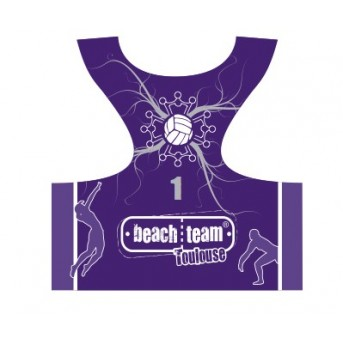 Your official Beach Volley of Toulouse sports bra