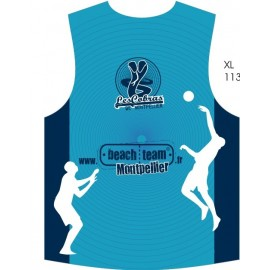 your official Beach volley club of Montpellier sleeveless jersey