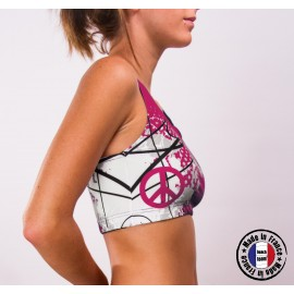"Sports bra ""Don't speak just play"" Pink"